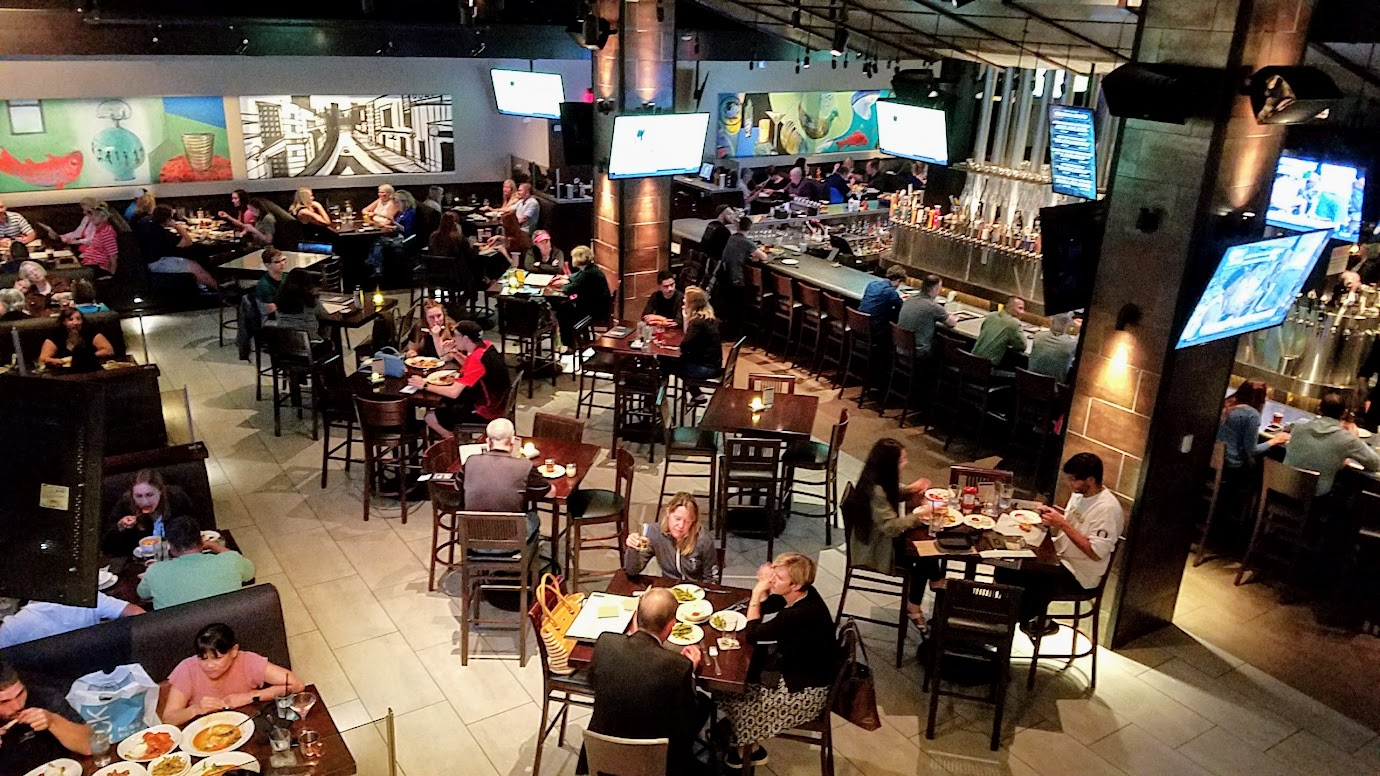 Yard House Portland offers 130 taps with a keg room holding over 5000 gallons of beer.