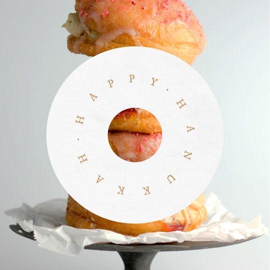 Happy Hanukkah Doughnuts - Hanukkah Template