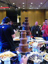Photo: Chocolate fountain, yummy!