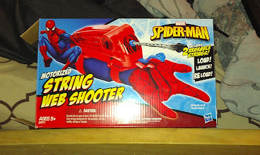 Photo: This is the toy that The Boy chose to use his money on at Wal-Mart!! Spiderman Web Shooter!! Mommy was excited that he wanted the one that only shoots strings, and not that messy silly string!!