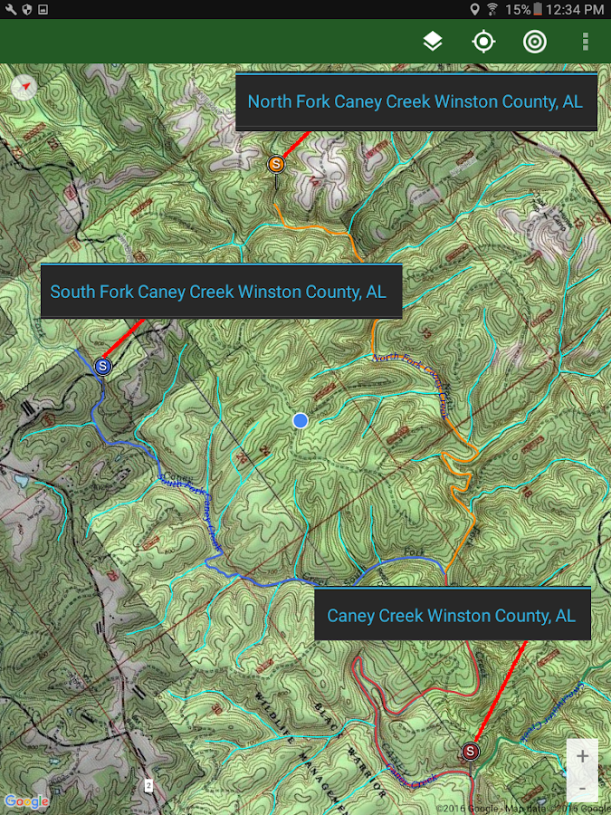 Stream Map USA - MountainSouth- screenshot