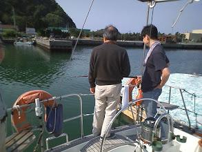 Photo: 釣り中です...が...
