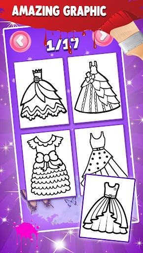 Glitter Dresses Coloring Book For Kids screenshot 10