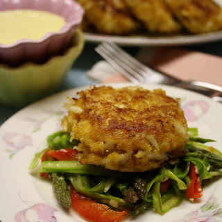 Crab Cakes with Hollandaise Sauce.