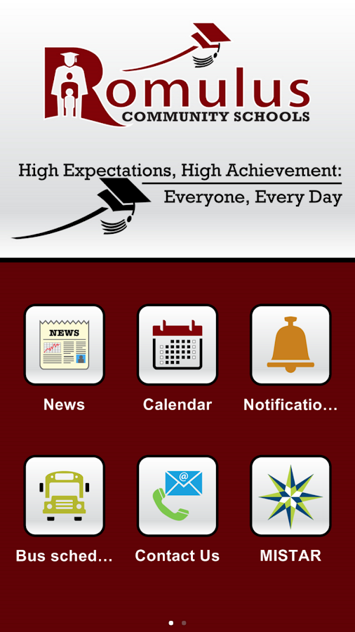 Romulus Community Schools- screenshot