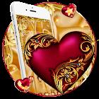 Tema de lujo del corazón real icon