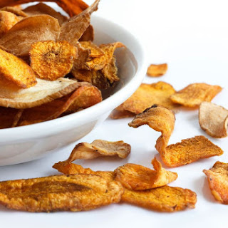 Baked Parsnip Chips With Lime Salt