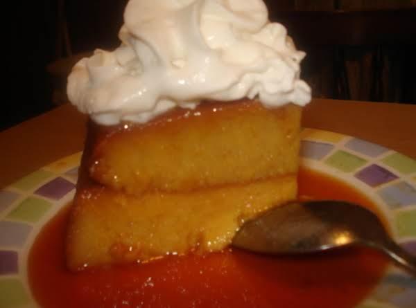 Pumpkin Flan, Flan De Calabaza (made Onto A Flan Cake)