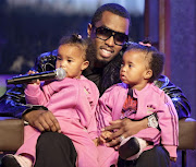 Diddy with his twins D'Lila Star and Jessie James at MTV's