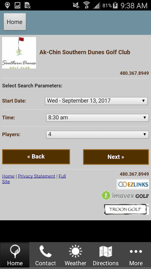 Southern Dunes Golf Club- screenshot