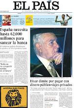 """Photo: España necesita hasta 62.000 millones para sanear la banca, Monti asegura que """"Italia no va a requerir ayudas en el futuro"""" y Dívar dimite por pagar con dinero público viajes privados, en nuestra portada del viernes 22 de junio http://cort.as/28Af"""