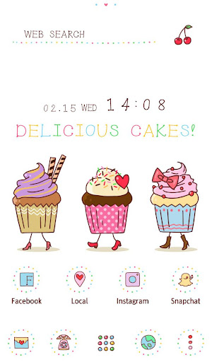 Wallpaper Funny Cupcakes Theme 1.0.0 Windows u7528 1