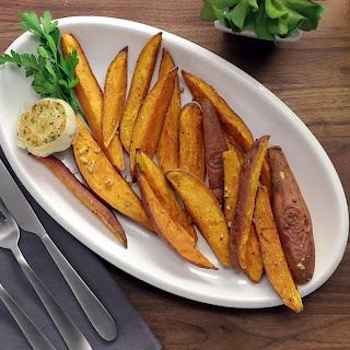 Garlic Sweet Potato Fries.