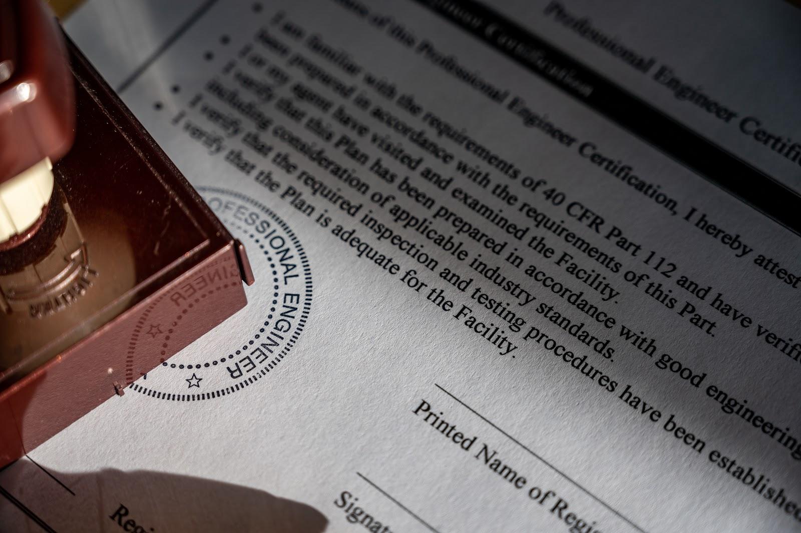 licensed professional engineer stamp