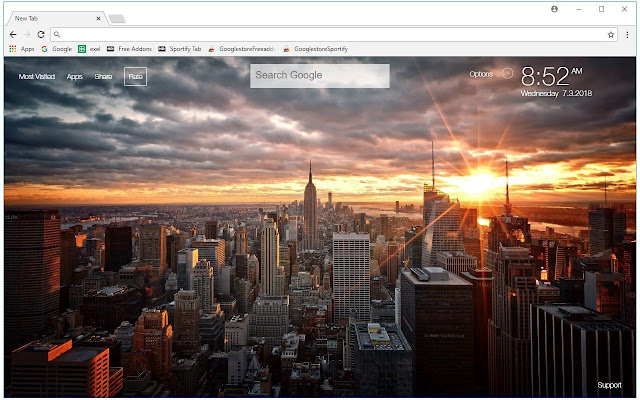 New York City Wallpapers New Tab Themes