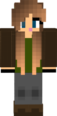Hanna's first character on my PC Minecraft yay!!