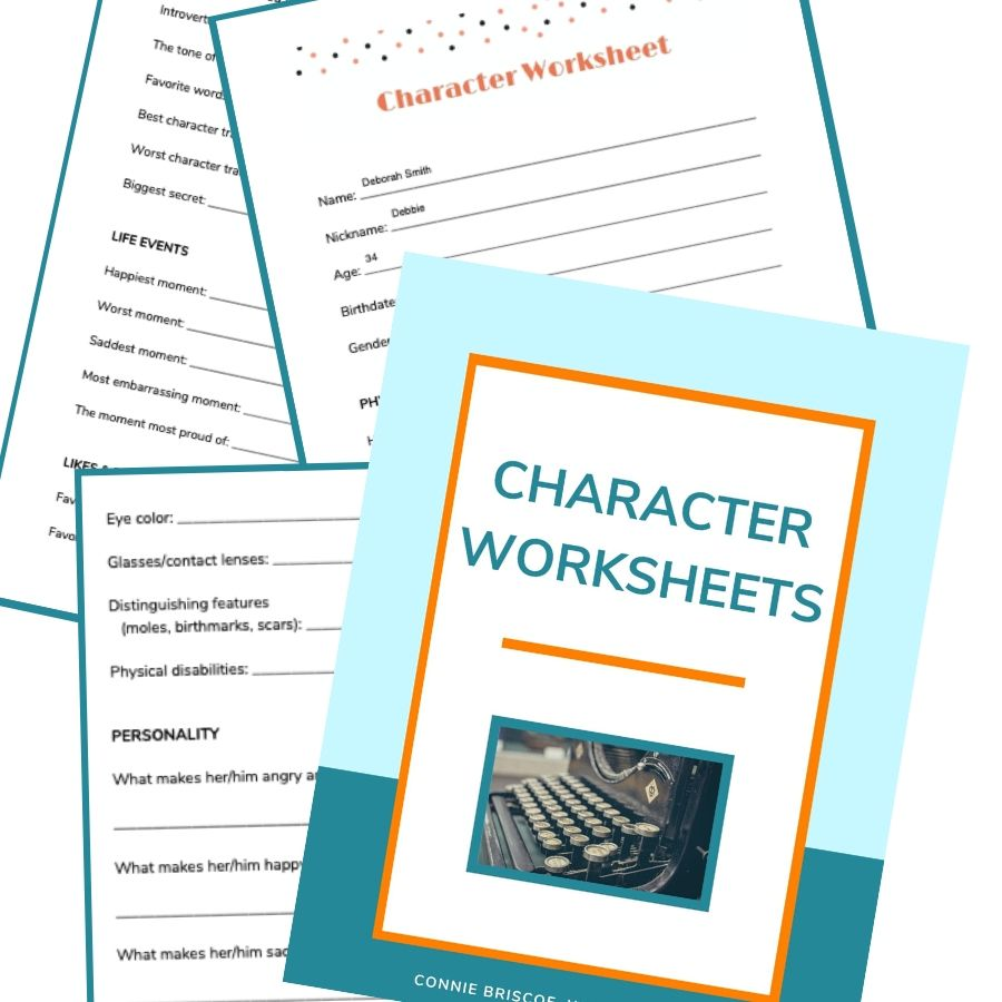 Character Worksheets Collage