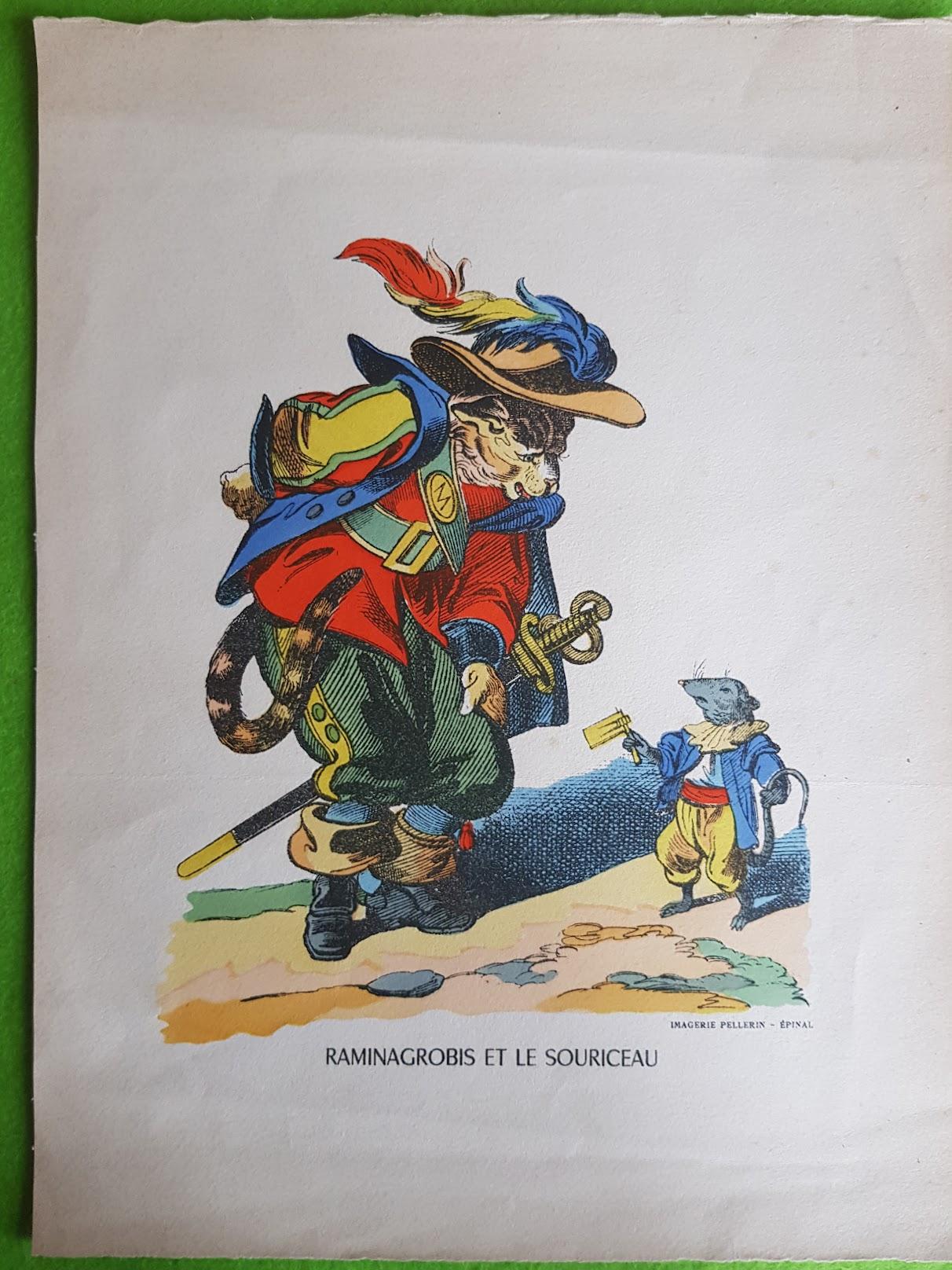 Raminagrobis - originale, kolorierte Lithographie aus der Imagerie Pellerin d'Épinal, 1870