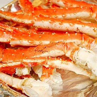 Steamed Alaskan Crab Legs.