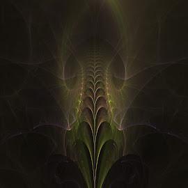 The Curtsy by Rick Eskridge - Illustration Sci Fi & Fantasy ( fantasy, jwildfire, curtsy, fractal, twisted brush )