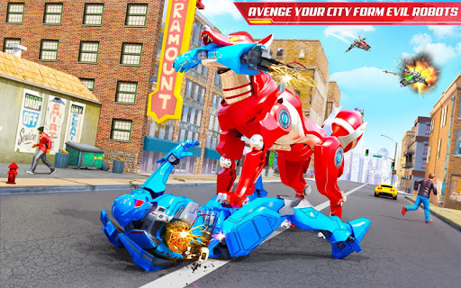 Wild Fox Transform Bike Robot Shooting: Robot Game 12 screenshots 10