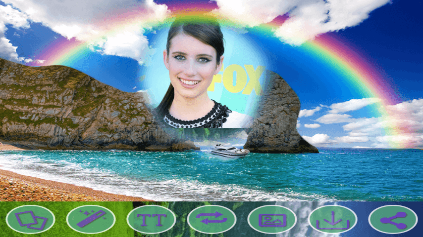 android Rainbow HD Photo Frames Screenshot 1