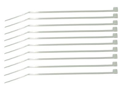 Strips, 10cm, hvit transparent, 10 stk