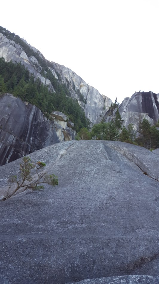 Looking up at Squamish Buttress from [Calculus Crack]