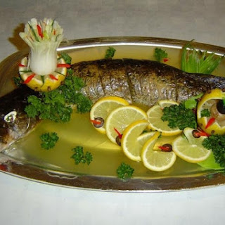 Jellied Pike With Vegetables