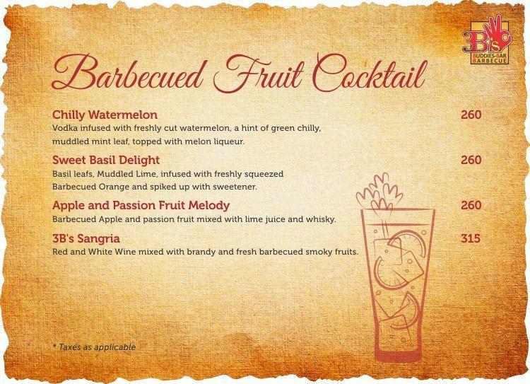 3B's - Buddies, Bar & Barbecues menu 5