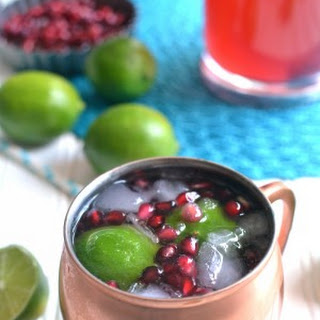 Pomegranate Moscow Mules.