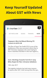 Cleartax GST Rate, Rules, Act, Guides & HSN Finder- screenshot thumbnail