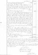Photo: Regionaal Archief Leiden, Notarieel Archief Noordwijk, Inv. Nr. 19, notaris Cornelis Catharinus van der Schalk, akte 28, blad 38, dd. 21-02-1861 (bijlage dd. 03-12-1860)  Boedelscheiding van de boedel van Job Duivenvoorden, overleden te Noordwijk op Langeveld, laatst echtgenoot van Hendrina van der Klugt.  Nummer 13  Een bouwmanswoning met eenen 6 roeden en met eenen 5 roeden hooiberg, dorschvloer, 2 schuren, zomerhuis en karnmolen, met verschillende partijen wei- of hooi, geest- en bouwland, een en ander staande en gelegen op Langeveld onder Noordwijk aan de Langeveldsche Laan, bij het kadaster bekend in Sectie B Nummers 64, 65, 66, 67, 68, 69, 70, 78, 79, 80, 81, 82, 85, 86, 87, 88, 89, 90, 90a, 90b, 91, 92, 93, 96, 97, 103, 107, 109 en 109a ter grootte van 37 bunders, 22 roeden en 69 ellen.  http://beeldbank.nationaalarchief.nl/nl/afbeeldingen/indeling/detail/start/5/trefwoord/Geografisch_trefwoord/Noordwijk/trefwoord/Serie_Collectie/Kadastrale%20kaarten%20van%20Zuid~Holland