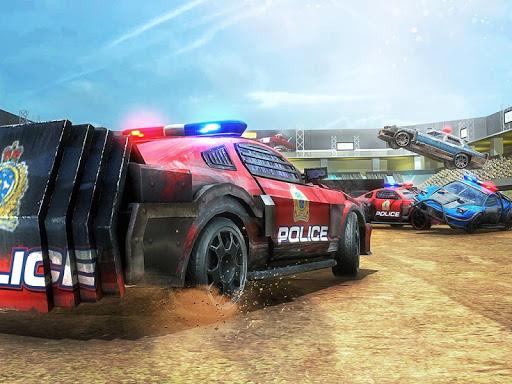 PC u7528 Demolition Derby Police Car Crash Stunts Racing 1