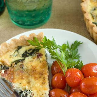 Bacon and Arugula Quiche