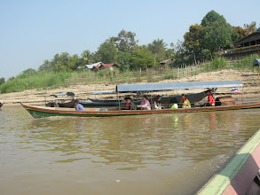 Photo: Crossing the Mekong and the border from Thailand to Laos