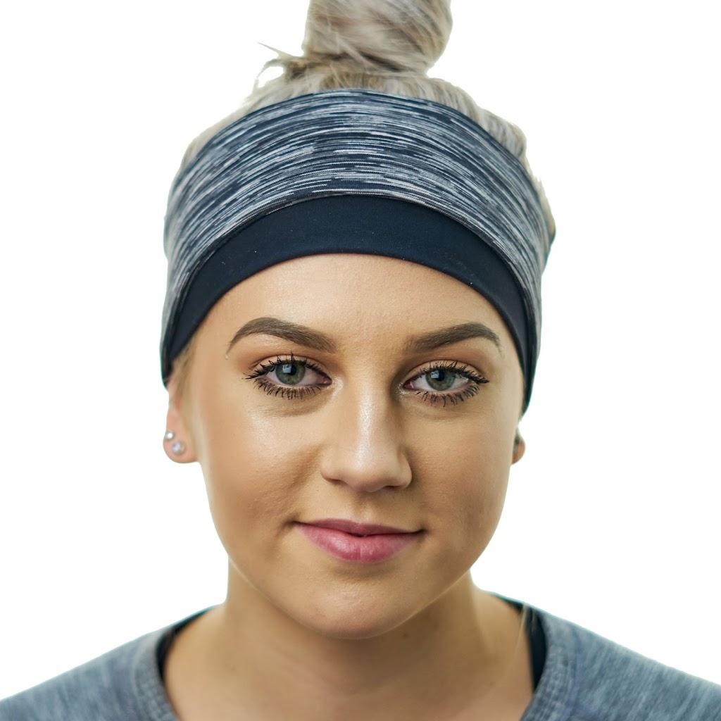 Girl wearing a winter running headband
