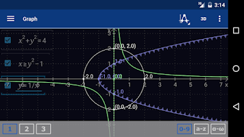 Screenshot of Graphing Calculator MathlabPRO