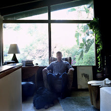 Photo: title: Colin Dusenbury with Simon the dog, Los Angeles, California date: 2010 relationship: friends, art, met through Moira Greenspun Tarmy years known: 0-5