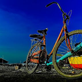 Old bicycles by An'naas Sobrie Al Arif - Transportation Bicycles ( landscape, boat, dock, bicycle )