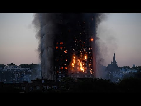A huge fire has engulfed a 24-storey building in central London on Wednesday, killing several people and injuring dozens.  Video credit: Reuters  Image: REUTERS/Toby Melville  Subscribe to TimesLIVE here: https://www.youtube.com/user/TimesLive