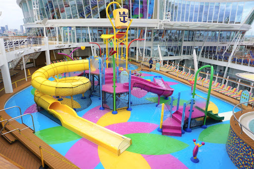 symphony-of-seas-kids-slides.jpg -  Kids will get a blast out of the Splashaway Bay water park on Symphony of the Seas.