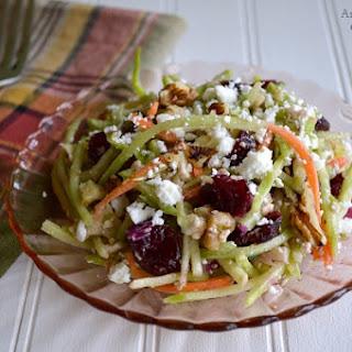 Cranberry, Walnut & Feta Broccoli Slaw