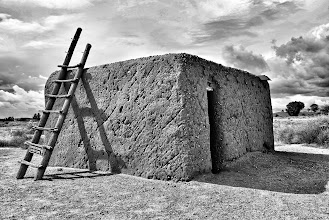 Photo: Sample pueblo house at the Coronado State Monument in Bernalillo, NM.