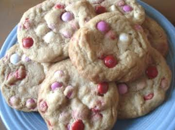 Thick N Chewy M&M Valentine Cookies