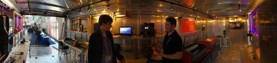 Photo: The TechShop Trailer at #REAL2015 Main Hall