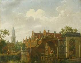 Photo: Zicht op de Neckerpoort te Purmerend, door Isaak Ouwater, 1789. Waterlands Archief