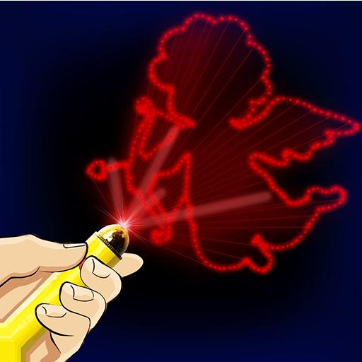 模拟のキッズレーザーシミュレータジョーク LOGO-記事Game