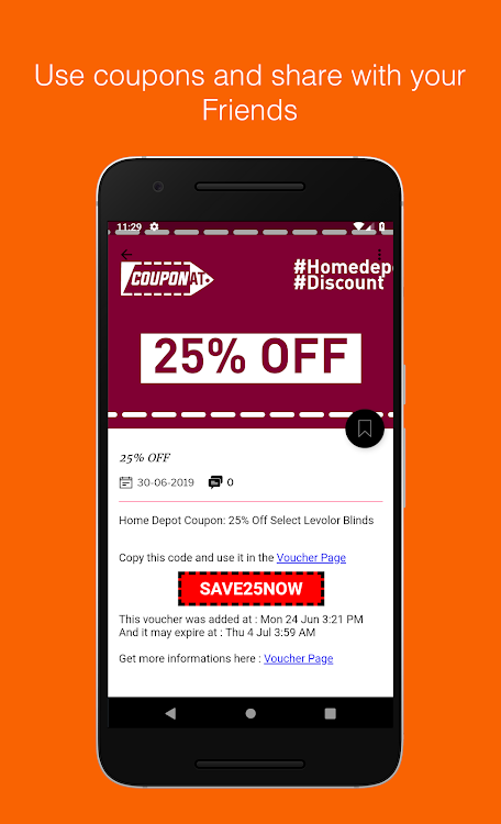 Coupons For Home Depot By Couponat Android Apps Appagg