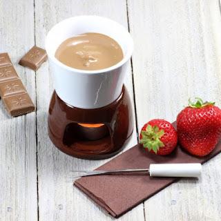 Milk Chocolate Fondue.